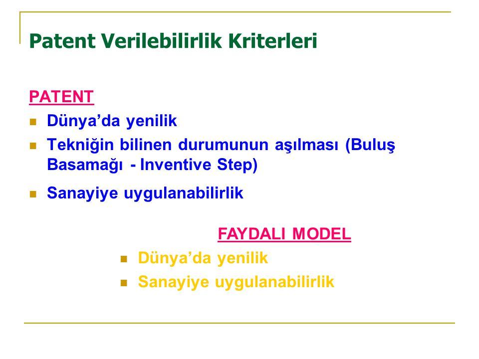 Patent Verilebilirlik Kriterleri