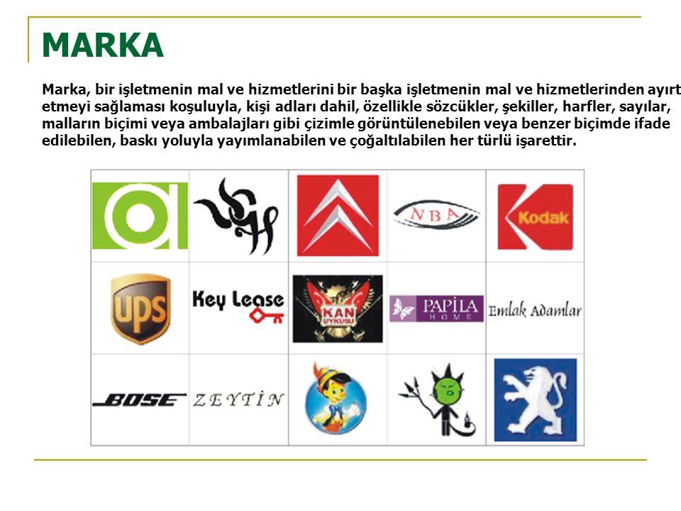 MARKA Marka, bir işletmenin mal ve hizmetlerini bir başka işletmenin mal ve hizmetlerinden ayırt.