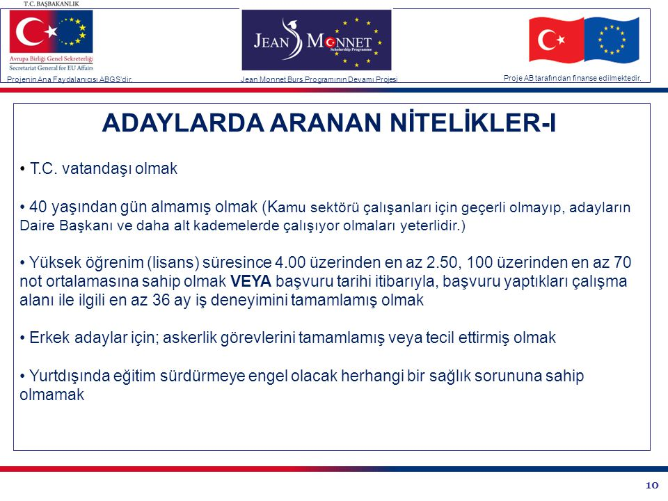 ADAYLARDA ARANAN NİTELİKLER-I