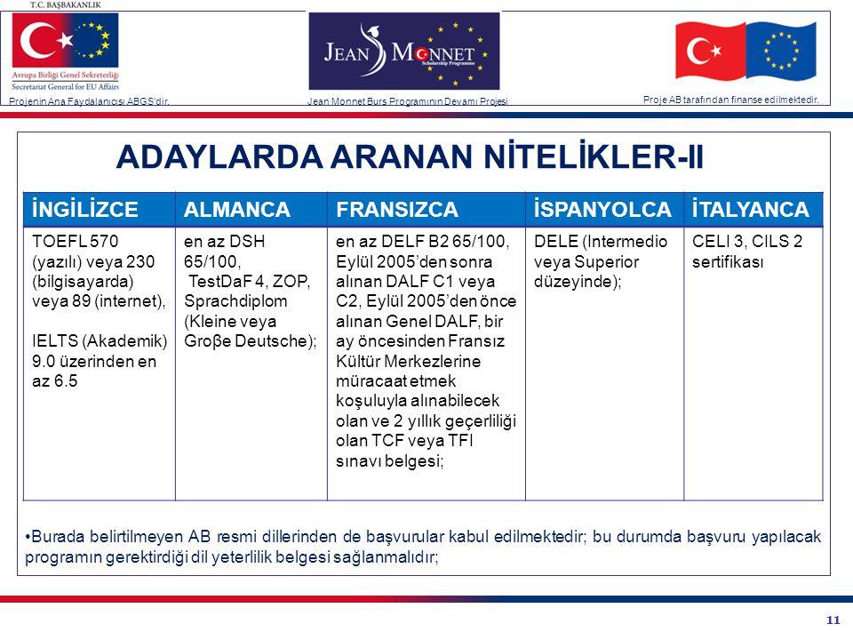 ADAYLARDA ARANAN NİTELİKLER-II
