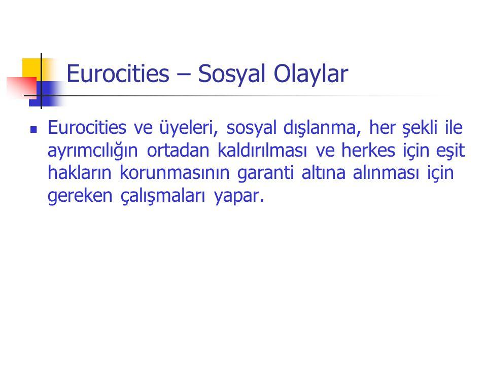 Eurocities – Sosyal Olaylar