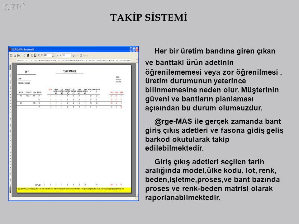 GERİ TAKİP SİSTEMİ.