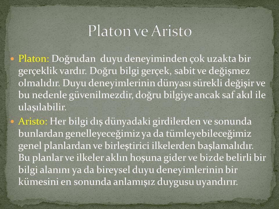 Platon ve Aristo