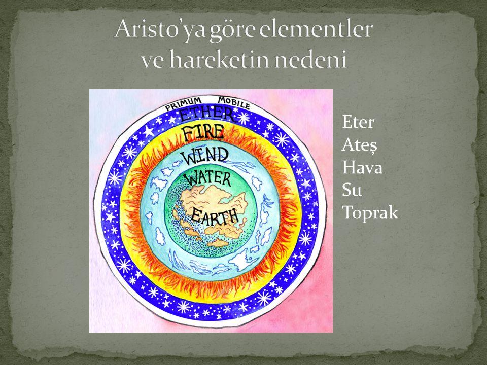 Aristo'ya göre elementler ve hareketin nedeni