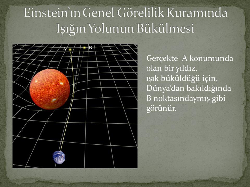 Einstein'ın Genel Görelilik Kuramında Işığın Yolunun Bükülmesi