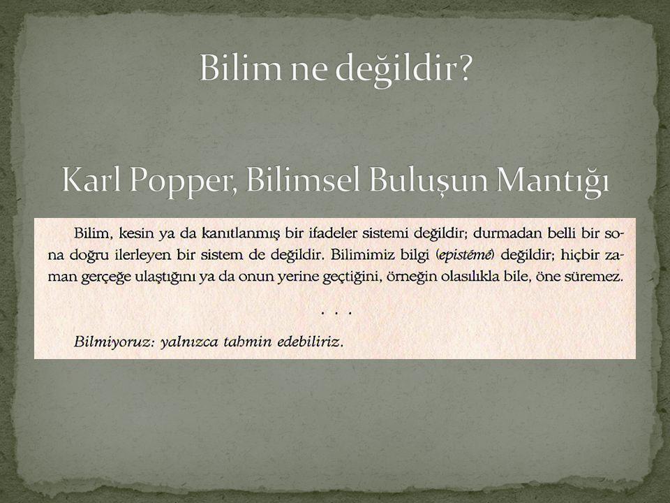 Karl Popper, Bilimsel Buluşun Mantığı