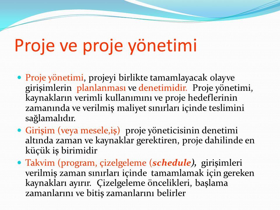 Proje ve proje yönetimi