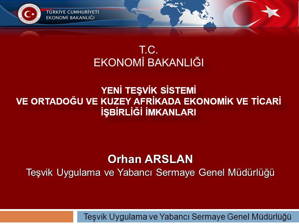 Orhan ARSLAN Teşvik Uygulama ve Yabancı Sermaye Genel Müdürlüğü