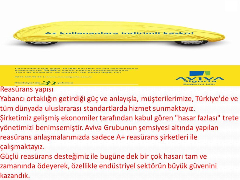 Reasürans yapısı Yabancı ortaklığın getirdiği güç ve anlayışla, müşterilerimize, Türkiye de ve tüm dünyada uluslararası standartlarda hizmet sunmaktayız.