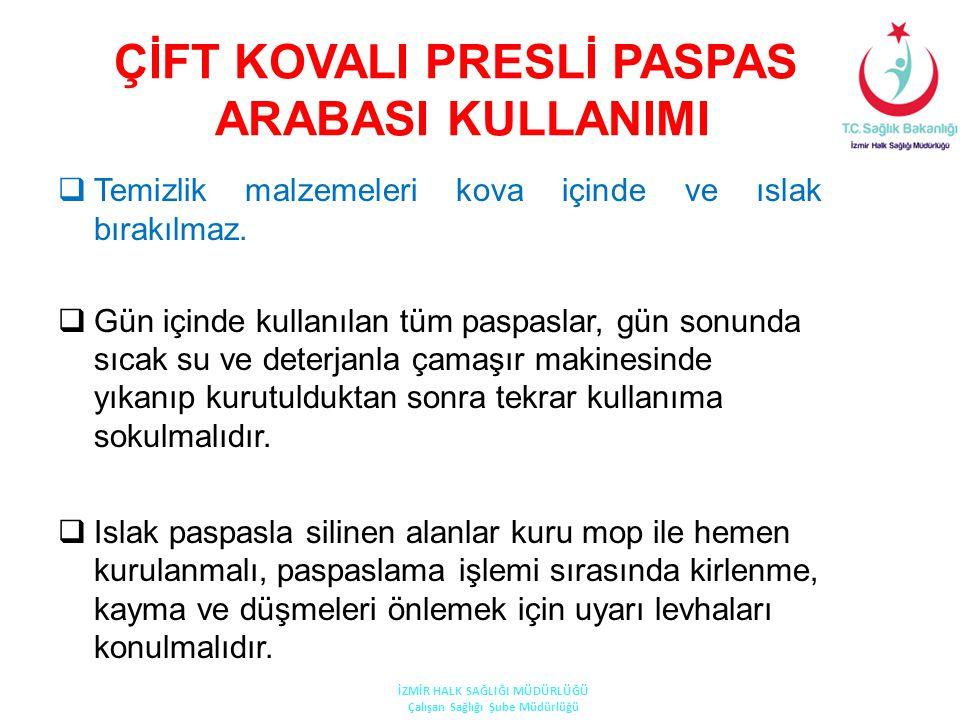 ÇİFT KOVALI PRESLİ PASPAS ARABASI KULLANIMI