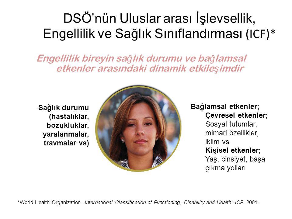 DSÖ'nün Uluslar arası İşlevsellik, Engellilik ve Sağlık Sınıflandırması (ICF)*