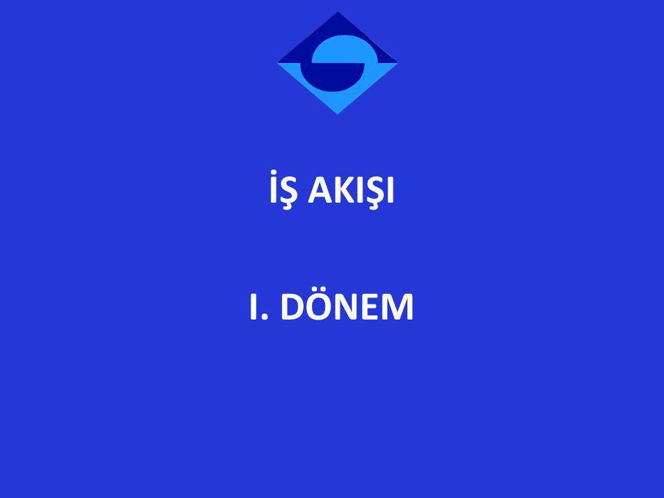 İŞ AKIŞI I. DÖNEM