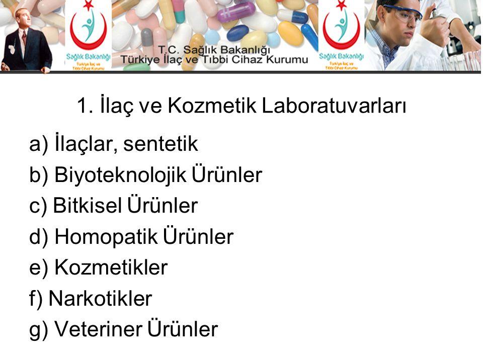 1. İlaç ve Kozmetik Laboratuvarları