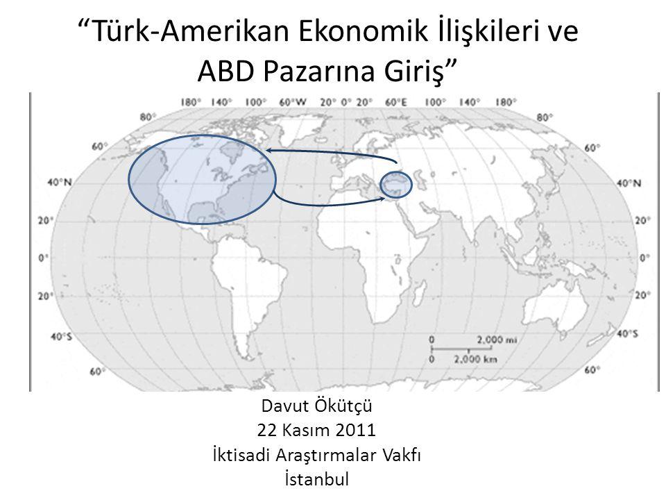Türk-Amerikan Ekonomik İlişkileri ve ABD Pazarına Giriş