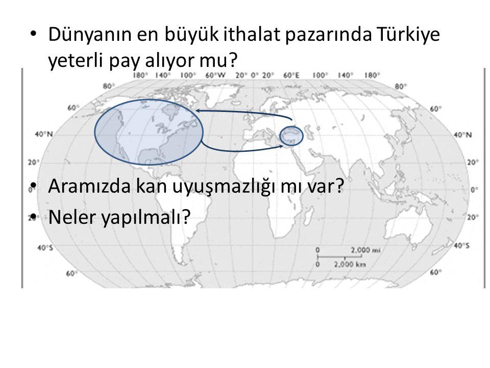 Dünyanın en büyük ithalat pazarında Türkiye yeterli pay alıyor mu