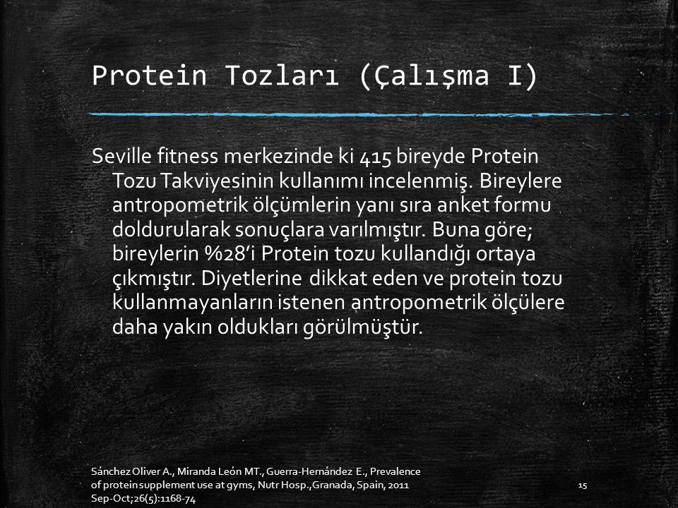 Protein Tozları (Çalışma I)