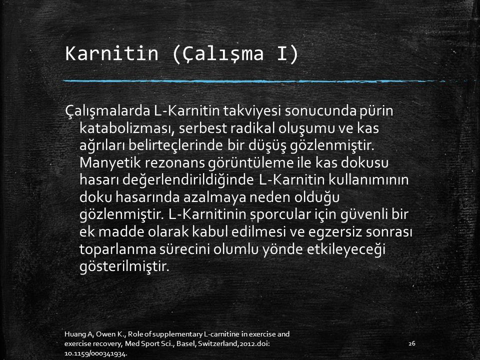 Karnitin (Çalışma I)