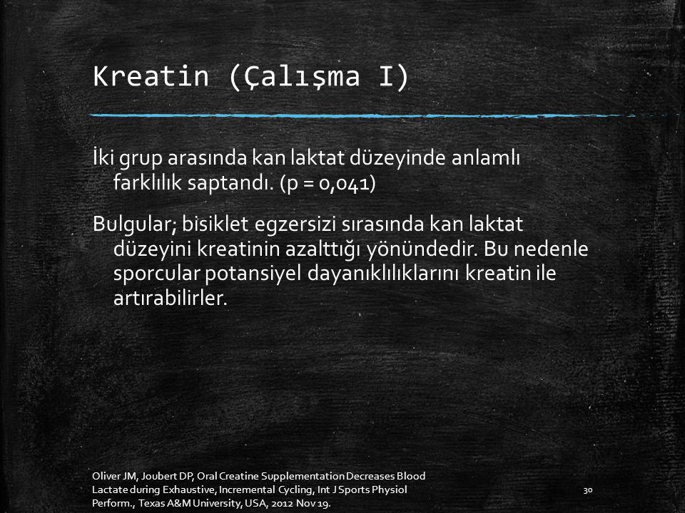 Kreatin (Çalışma I)