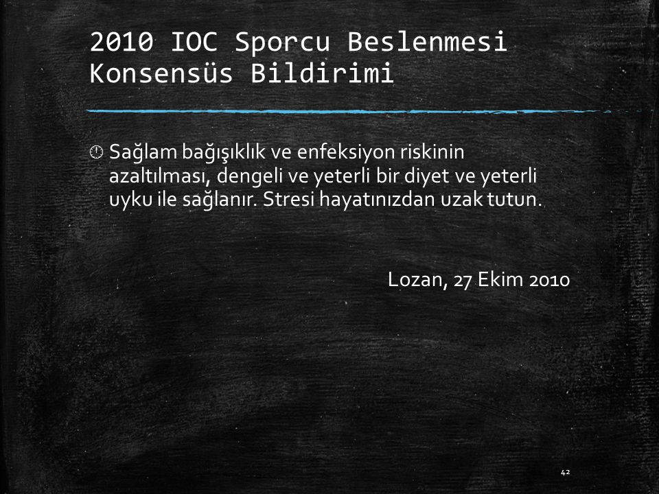 2010 IOC Sporcu Beslenmesi Konsensüs Bildirimi