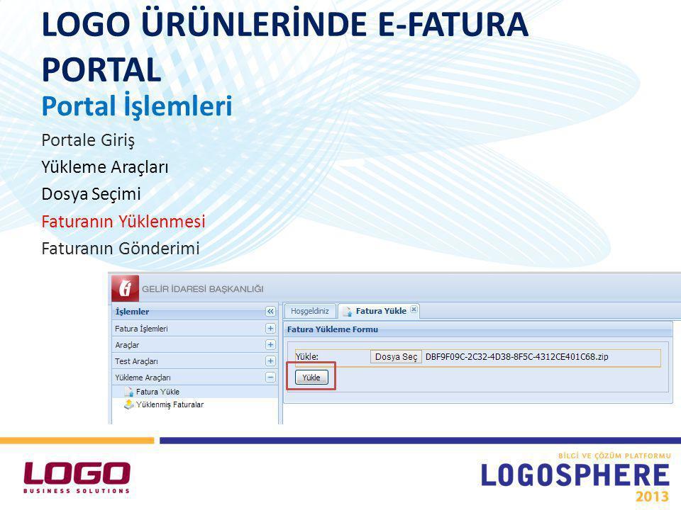 LOGO ÜRÜNLERİNDE E-FATURA PORTAL