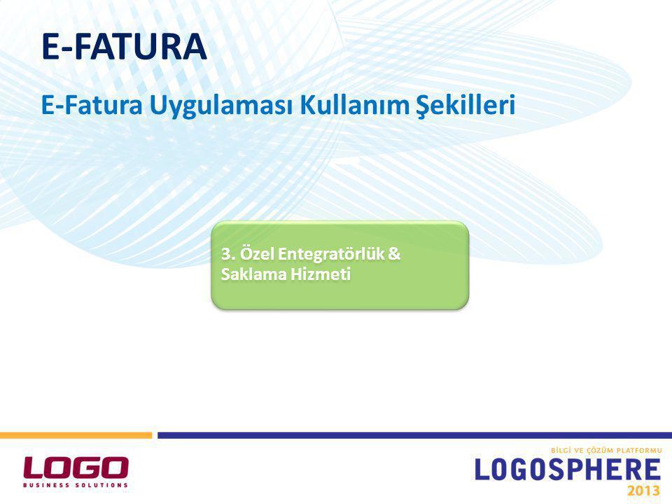 E-FATURA E-Fatura Uygulaması Kullanım Şekilleri