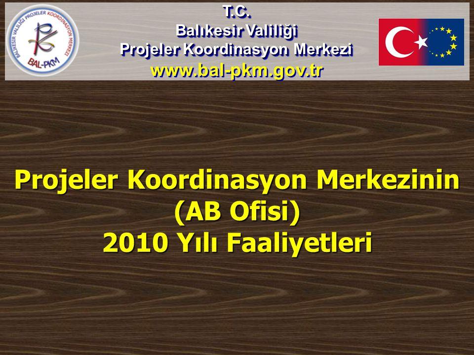 Projeler Koordinasyon Merkezinin (AB Ofisi) 2010 Yılı Faaliyetleri