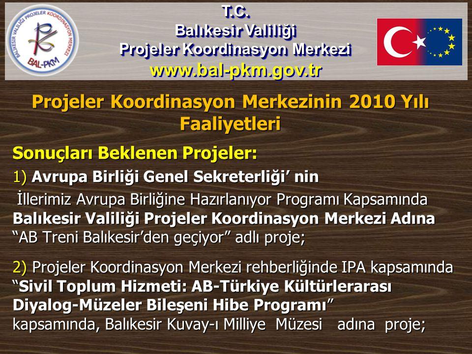 Projeler Koordinasyon Merkezinin 2010 Yılı Faaliyetleri