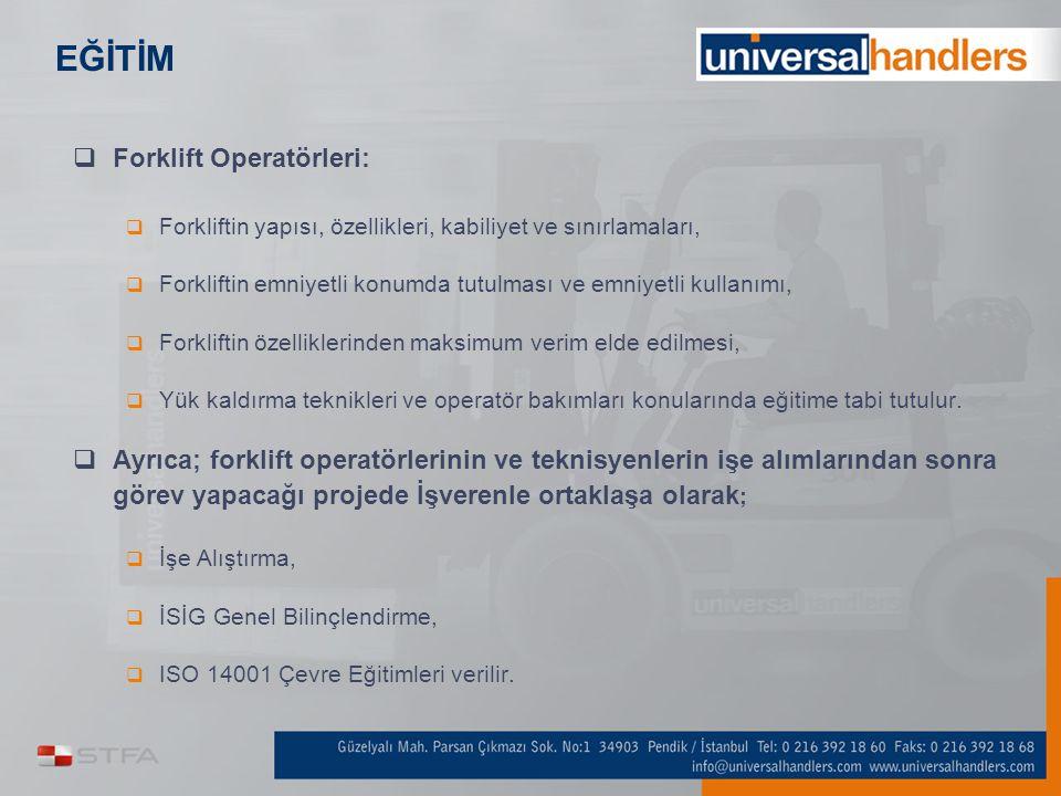 EĞİTİM Forklift Operatörleri: