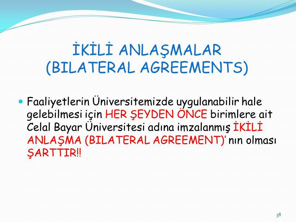 İKİLİ ANLAŞMALAR (BILATERAL AGREEMENTS)