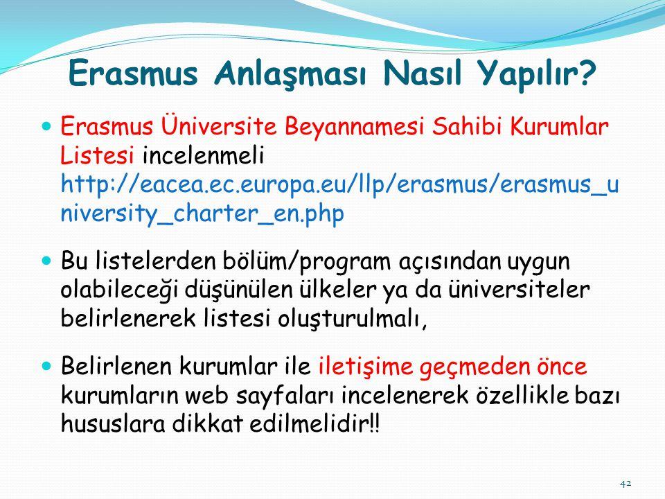 Erasmus Anlaşması Nasıl Yapılır