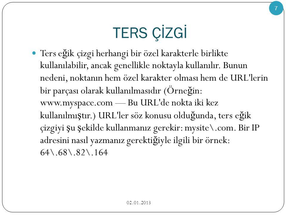 TERS ÇİZGİ