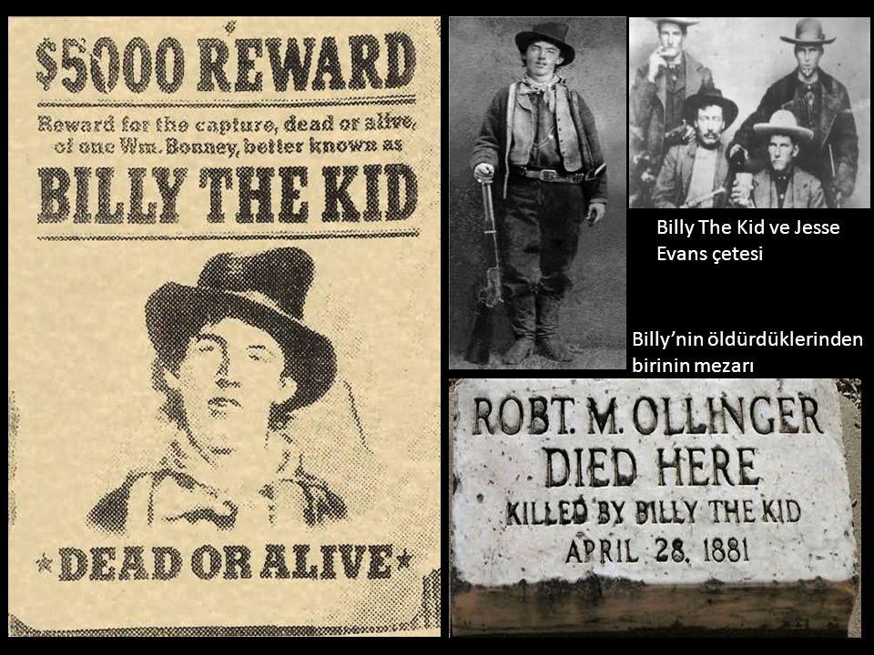 Billy The Kid ve Jesse Evans çetesi Billy'nin öldürdüklerinden birinin mezarı