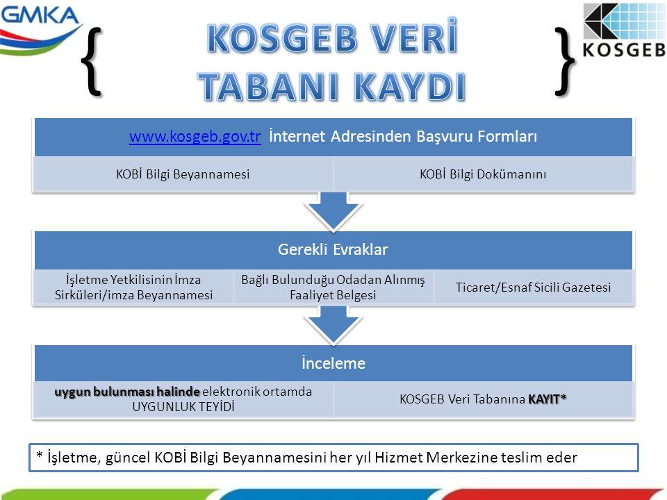 KOSGEB VERİ TABANI KAYDI