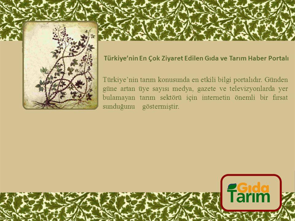 Türkiye'nin En Çok Ziyaret Edilen Gıda ve Tarım Haber Portalı