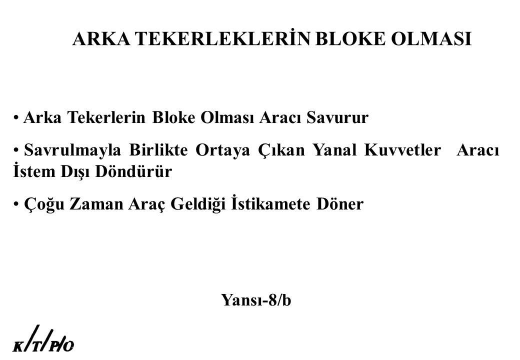 ARKA TEKERLEKLERİN BLOKE OLMASI