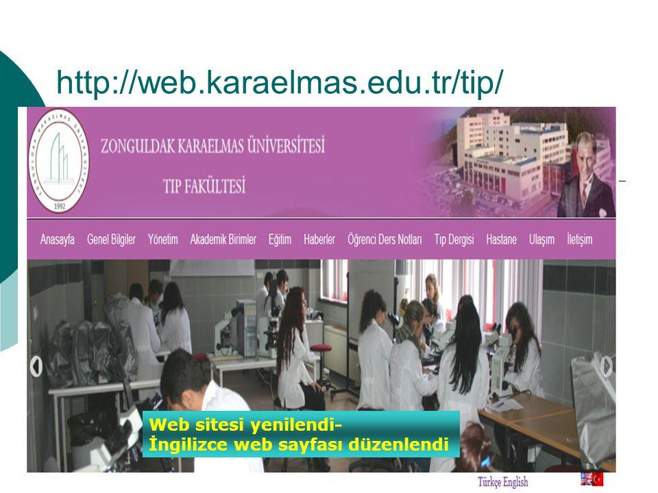 http://web.karaelmas.edu.tr/tip/ Web sitesi yenilendi-