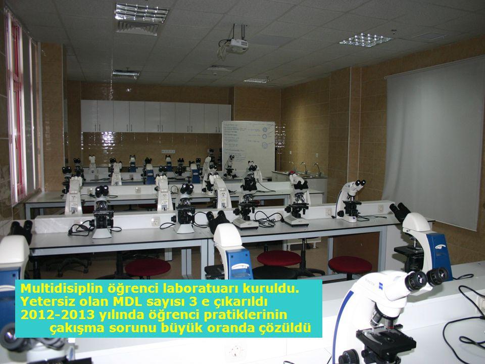 Multidisiplin öğrenci laboratuarı kuruldu.