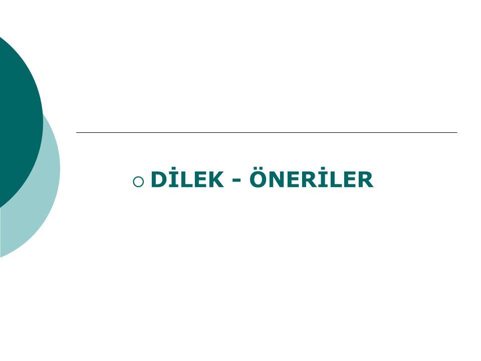 DİLEK - ÖNERİLER