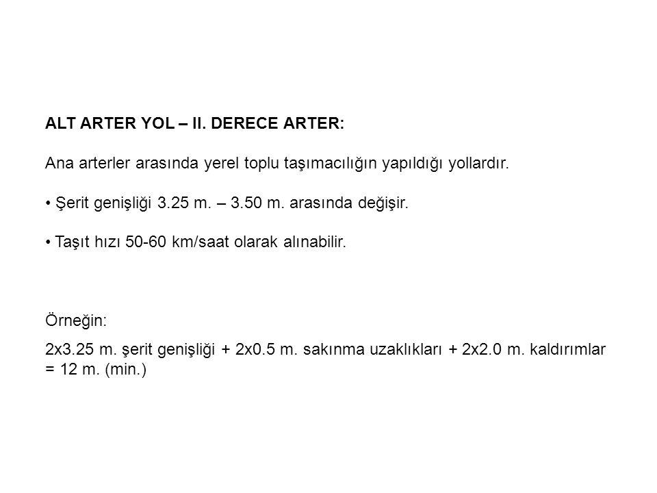 ALT ARTER YOL – II. DERECE ARTER: