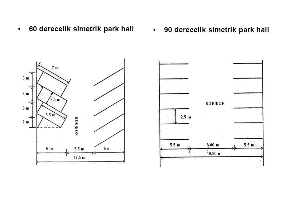 60 derecelik simetrik park hali
