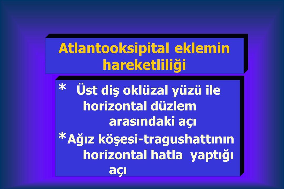 Atlantooksipital eklemin hareketliliği