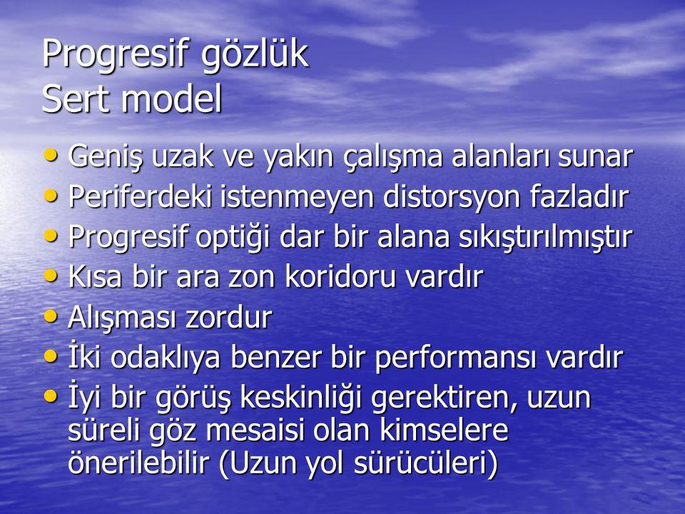 Progresif gözlük Sert model