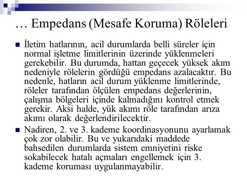 … Empedans (Mesafe Koruma) Röleleri