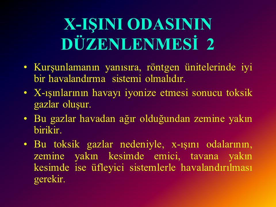 X-IŞINI ODASININ DÜZENLENMESİ 2