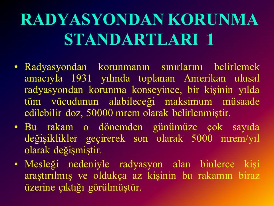 RADYASYONDAN KORUNMA STANDARTLARI 1