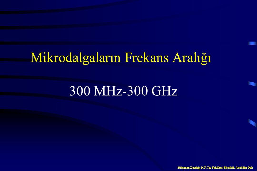 Mikrodalgaların Frekans Aralığı 300 MHz-300 GHz