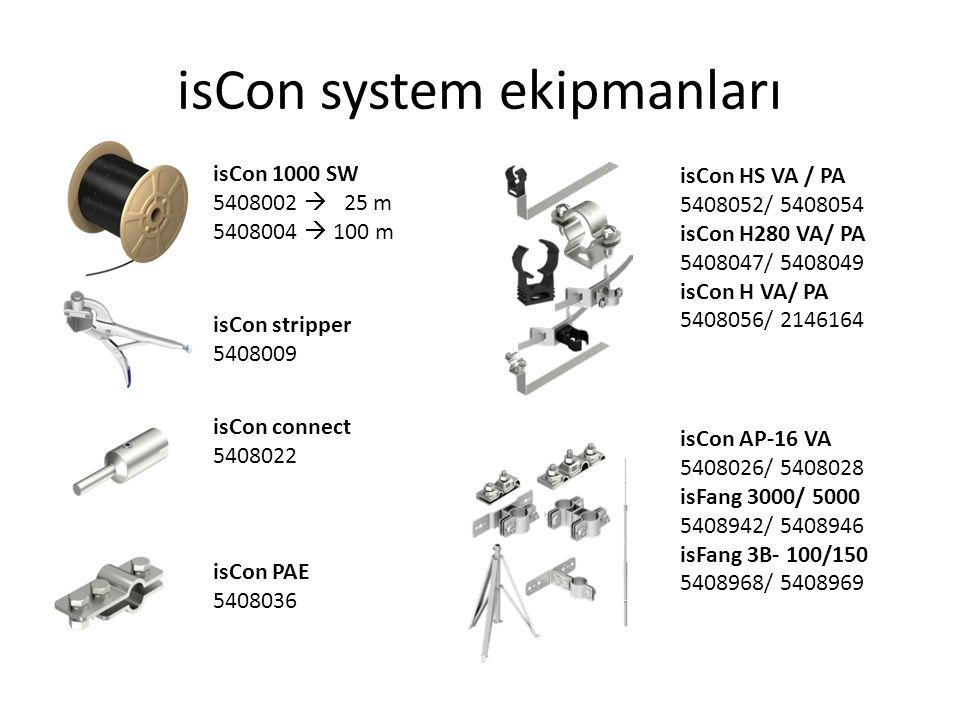isCon system ekipmanları