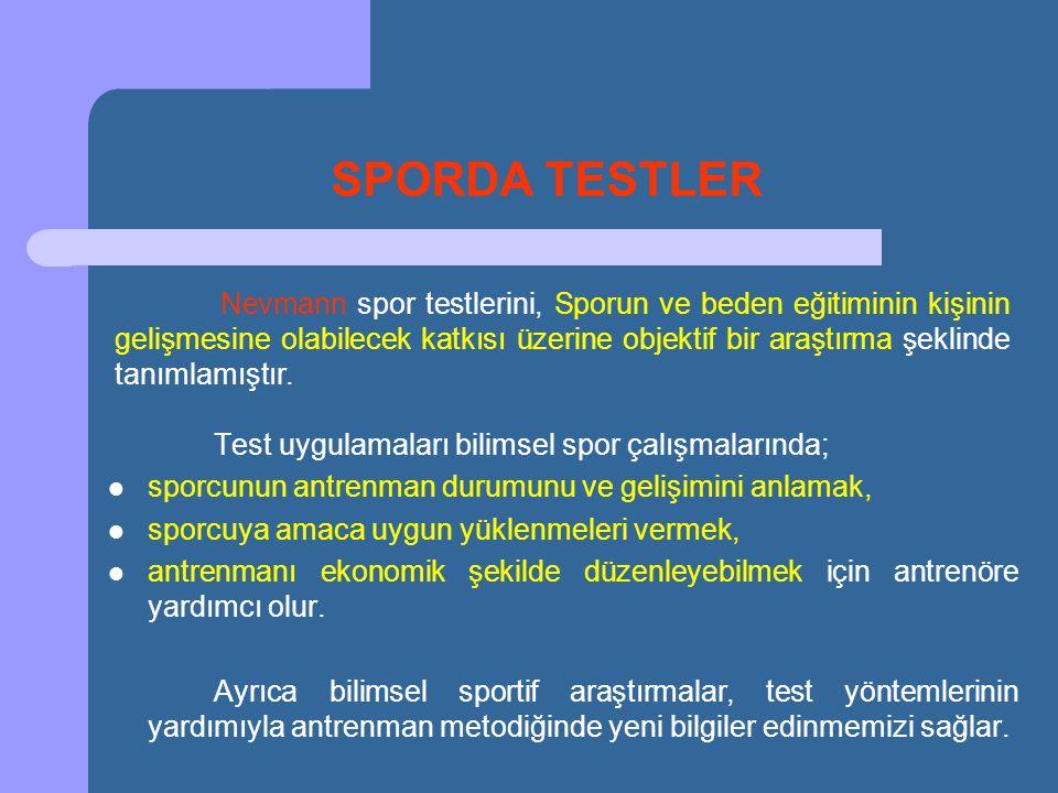 SPORDA TESTLER