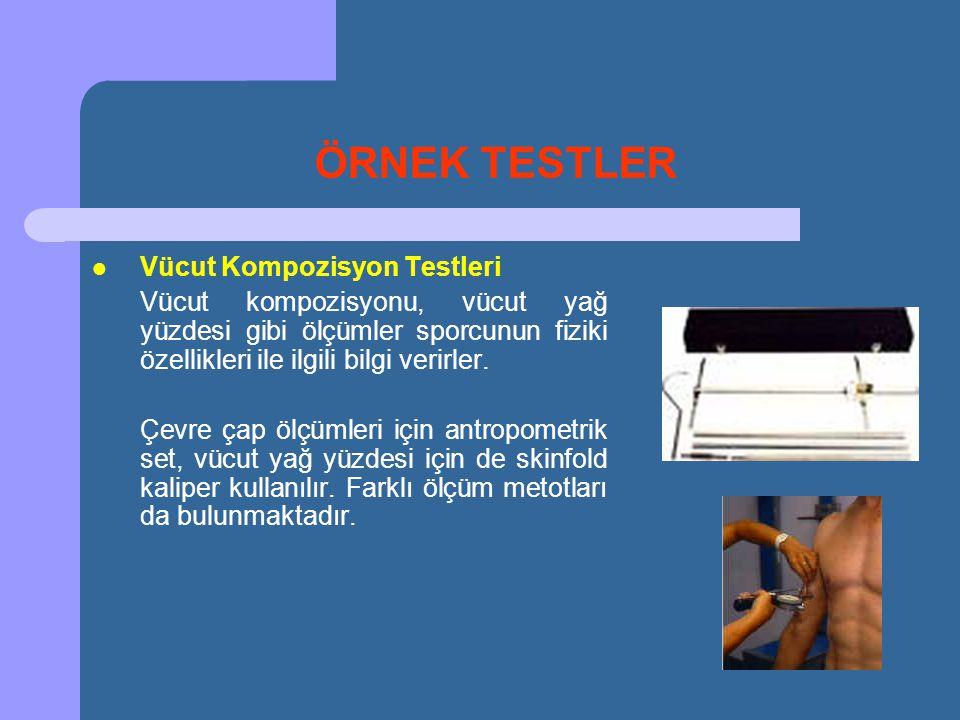 ÖRNEK TESTLER Vücut Kompozisyon Testleri