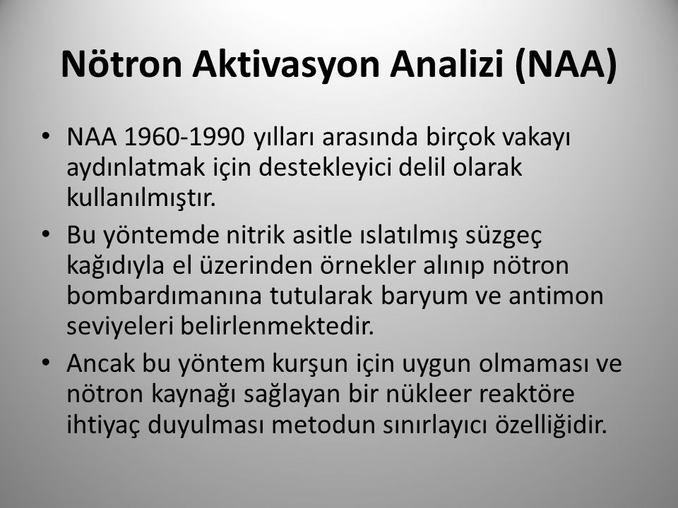Nötron Aktivasyon Analizi (NAA)